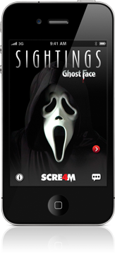 Sightings - Ghost Face iPhone app
