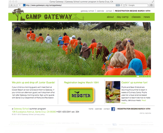 Website for Camp Gateway 2012