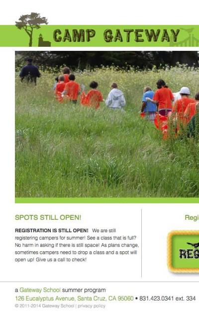 Camp Gateway - Website by ZapTuba