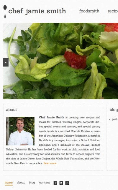Chef Jamie Smith - Website by ZapTuba