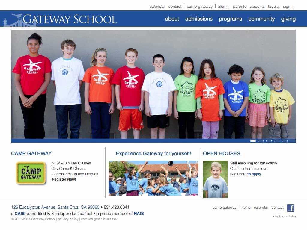 Gateway School - Website by ZapTuba