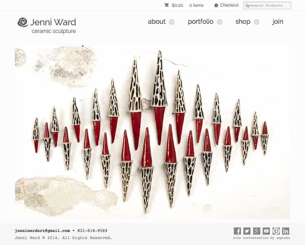Jenni Ward - Website by ZapTuba