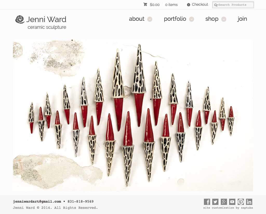 Jenni Ward - Website by ZapTuba