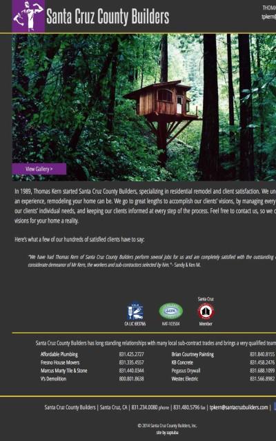 Santa Cruz County Builders - Website by ZapTuba