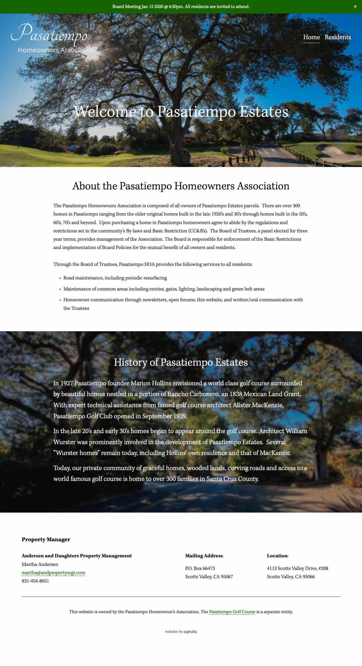 Pasatiempo Homeowner Association - Home Page