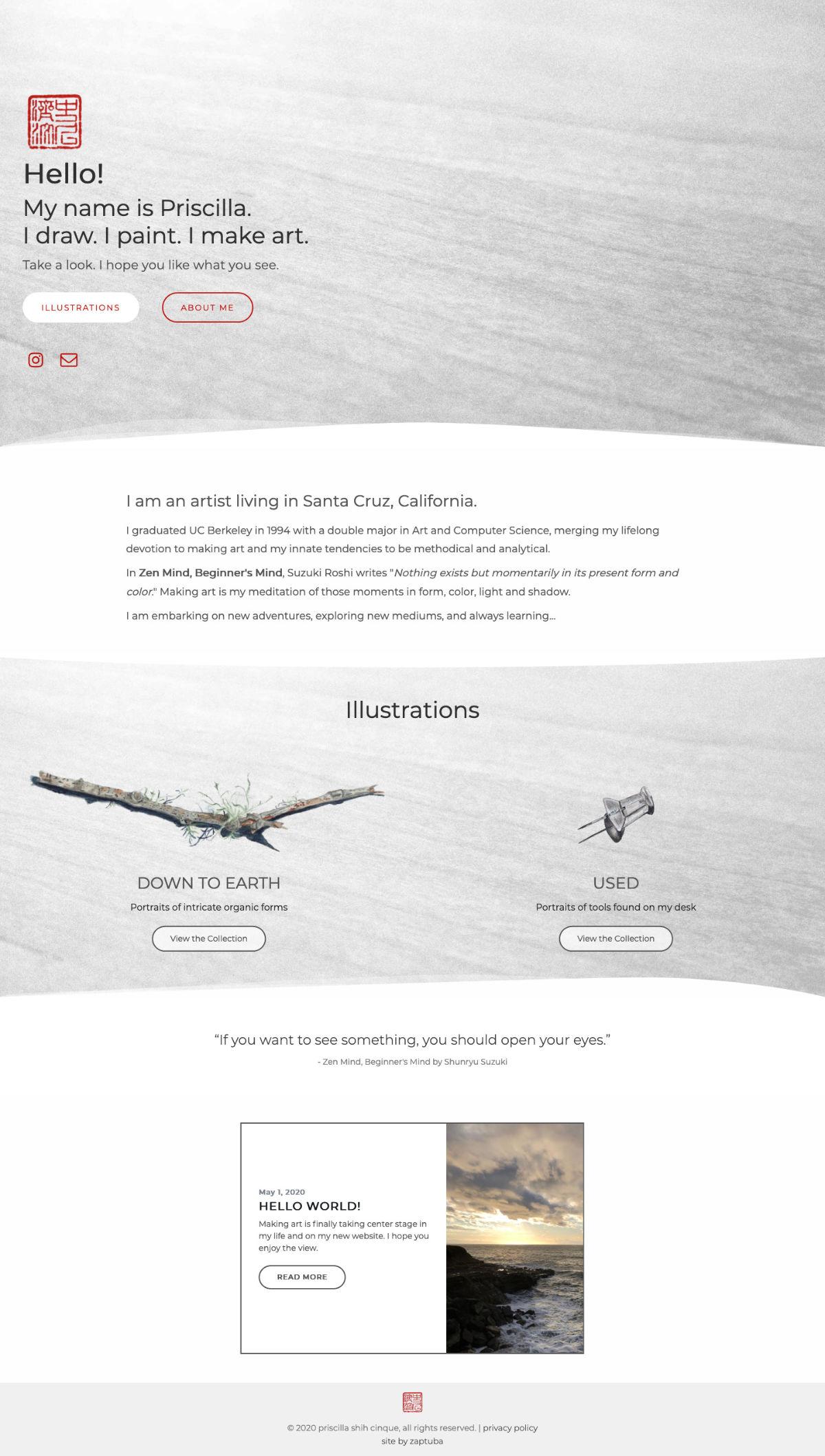 priscillashihcinque.com - Home Page - screenshot